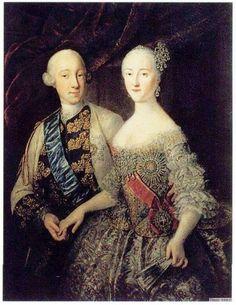 Пётр III Фёдорович (ур. Карл Пе́тер У́льрих). (1728-1762) — российский император и Екатерина Алексеевна