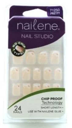 I'm learning all about Nailene Chip Proof Short Length 24 French Nails-Pretty 71250 at @Influenster!
