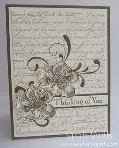 Monochromatic Everything Eleanor with Two Flowers by sarahsinkspot - Cards and Paper Crafts at Splitcoaststampers