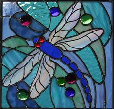 Love stained glass... love the dragon fly