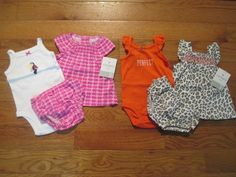 Awesome 6 piece LOT of Baby Girl Spring/Summer clothes size 3 months NWT 2017-2018