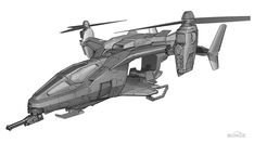 View an image titled 'Falcon Art' in our Halo: Reach art gallery featuring official character designs, concept art, and promo pictures. Concept Art World, Weapon Concept Art, Concept Cars, Concept Ships, Luftwaffe, Design 3d, Halo Reach, Sci Fi Ships, Futuristic Art