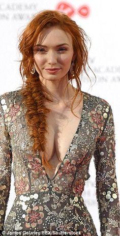 Scarlett Moffatt puts on a very leggy display on the BAFTAs red carpet #dailymail
