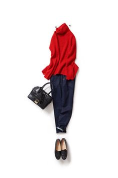 I want to wear a gorgeous red cool / Coordination details / Kyoko Kikuchi's Closet Fashion Over 50, Work Fashion, Daily Fashion, Classic Outfits, Casual Outfits, Fashion Outfits, Womens Fashion, How To Have Style, Looks Style