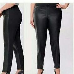 Lane Bryant Pants & Jumpsuits | Lane Bryant Faux Leather Front Leggings | Poshmark Fall Wardrobe, Lane Bryant, Pant Jumpsuit, Jumpsuits, Leather Pants, Leggings, Skinny, Things To Sell, Black