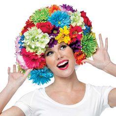 Colorful Foam Flower Costume Wig - Costume Wigs