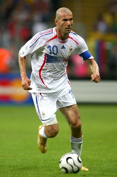 One of the best midfielders in the game of soccer of all time - Zinedine Zidane.