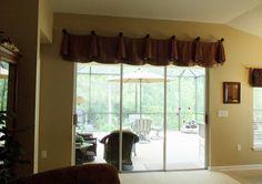 valance for sliding glass doors
