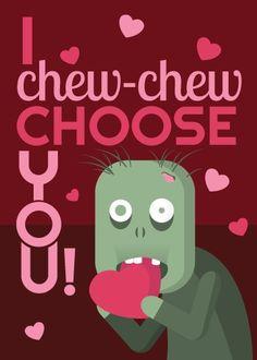 valentine zombie cards