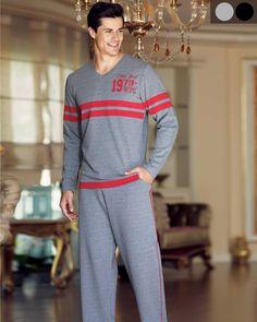 Şahinler V Yaka Şeritli Pijama Takım Sports, Tops, Fashion, Babydoll Sheep, Hs Sports, Moda, Fashion Styles, Sport, Fashion Illustrations