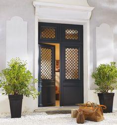 Montmartre - Porte d'entrée bois classique mi vitrée Bel'M