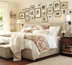 """I like this bedroom, featuring Pottery Barn's Faux Sheepskin Throw. (50"""" W x 70"""" L; crafted of durable, easy-care polyester; plush pile is as soft and fluffy as lambswool; reverses to soft, sheared polyester; machine wash)"""