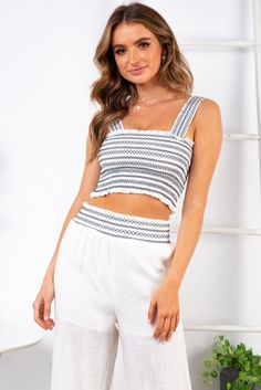 40187895a34c1 Riptide Top - White Navy Embroidery - Stelly
