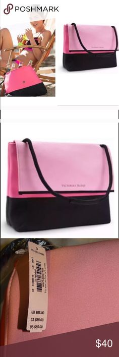 Victoria's Secret beach cooler bag Victoria's Secret cooler bag ! Perfect for the beach , camping, hiking or picnic! This zipper cooler bag keeps all the drinks and edibles chill! It's padded, so it works as a great laptop case also :)  Retail: $65 . Reasonable offers welcomed ! Victoria's Secret Swim
