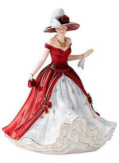 Royal Daulton figurines have been some of my best fashion inspiration for years...  I just wish they had more fabric at the neckline.