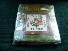 Needle Pointers - Thyme - Needlepoint Kit Complete - 5 x 5 - 1975 - Printed Canvas by pittsburgh4pillows on Etsy
