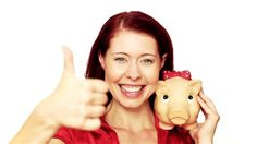 woman shaking piggy bank - Google Search