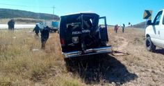 Unidad de Fiscalía pierde el control e impacta otro vehículo en la Parral - Jiménez | El Puntero
