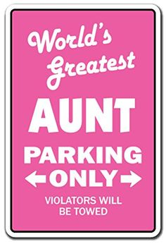 Worlds Greatest Aunt Novelty Sign  IndoorOutdoor  Funny Home Dcor for Garages Living Rooms Bedroom Offices  SignMission Gift Niece Nephew Siblings Daughter Relative Sign Decoration *** More info could be found at the image url. (This is an affiliate link) #HomeDecorGiftBaskets