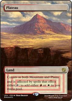 MTGO Cube Alternate Art Plateau SA If you have any suggestions for a card you would like to see let me know.