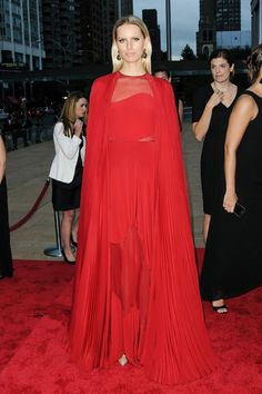 Anne Hathaway  on the New York City Ballet's Fall Gala red carpet