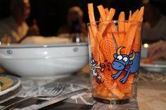 Crudités, palitos de zanahorias