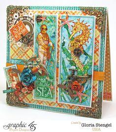 8x8 Home Decor Card by Gloria using Voyage Beneath the Sea #graphic45