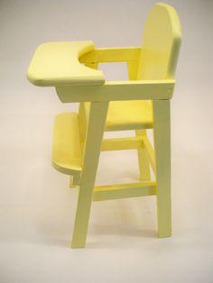 Trendy old wood chair fun 41 Ideas Wooden High Chairs, Metal Chairs, Cool Chairs, Modern Chairs, Cute Desk Chair, Baby Chair, Upholstered Chairs, Chair Cushions, Doll High Chair