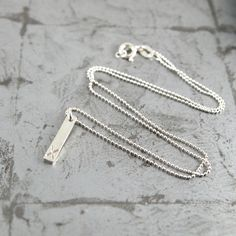 Kiss Sterling Silver Bar Pendant, X marks the spot necklace. By Maram Jewellery. #valentine