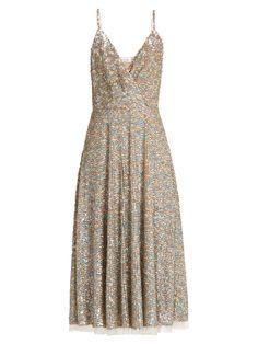 Sequin-embellished sleeveless midi dress | Valentino | MATCHESFASHION.COM AU