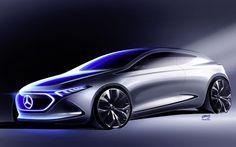 Hämta bilder Mercedes-Benz Begreppet EQA, 4k, Bilar 2018, koncept, supercars, Mercedes
