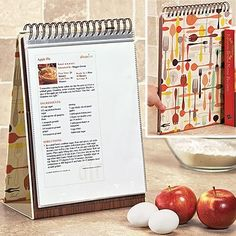 Great way to save counter space, protect the recipe printout, and keep you from having to grow the third hand! ---> got this for Christmas (in a blue color) and ABSOLUTELY love it!!! Can't wait to load it up with all my printed out recipes. Thanks mom!!