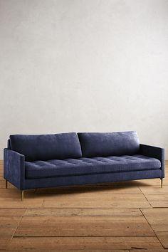 Slide View: 1: Slub Velvet Angelina Sofa