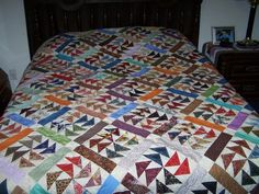 Quilt in a Day - My Dutchman's Puzzle quilt - Quilting Photos - Community Forum