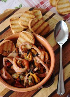 Zuppetta di cozze e calamari di Stefania Conti