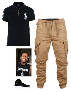 """""""Untitled #394"""" by keonnabrownoffical on Polyvore featuring G-Star Raw, Ralph Lauren, Silver Expressions by LArocks, NIKE, men's fashion and menswear"""