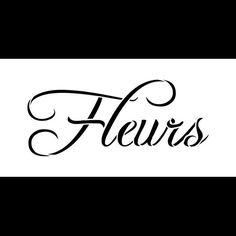 Fleurs palabra Stencil 8 x 4 STCL612 por StudioR12 por StudioR12