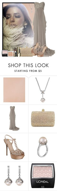 """Glamour Puss"" by clairestorace ❤ liked on Polyvore featuring Wolford, Louis Vuitton, Marchesa, Rodo, Sergio Rossi and L'Oréal Paris"