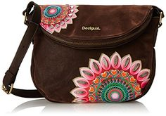 104f738f62e99 Desigual Minisoho Emo Woman Woven Cross Body Bag, Dark Brown, One Size:  Handbags: Amazon.com