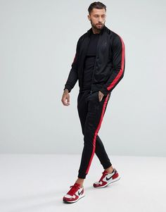 Good For Nothing Skinny Track Joggers With Side Stripes