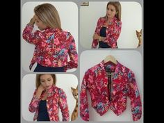 YouTube Jacket Pattern, Couture, Sewing, Blouse, Jackets, Blazers, Youtube Youtube, Nice Things, Dresses