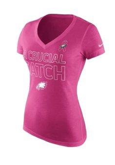 d4cddca77 Women s Nike Pink Philadelphia Eagles Breast Cancer Awareness V-Neck  Tri-Blend T-Shirt