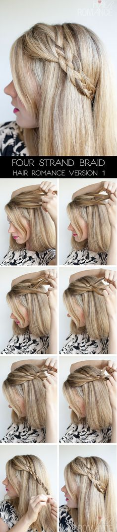 How to do 4 strand braid
