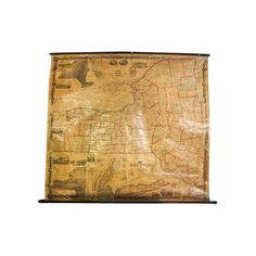 Large vintage style retro paper poster gifts 24 x 22 inch globe old pre civil war new york pull down map gumiabroncs Images