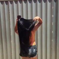 Long Silky Hair, Long Dark Hair, Super Long Hair, Black Hair Video, Long Hair Video, Long Indian Hair, Straight Black Hair, Long Hair Wigs, Curly Hair Problems