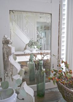 Chateau Chic: Thoughts of Home Thanksgiving Vignettes Tour Decor, French Decor, Cottage Chic, Autumn Inspiration, Fall Vignettes, Halloween Decorations, Vignettes, Architectural Salvage, Architectural Pieces