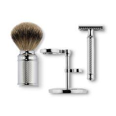Men's Double Edge Razor, Shaving Brush Set - Safety Razor Set - Baxter