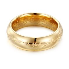 Gold Silver Black The Lord of Rings Stainless Steel Women Finger Wedding Band Fashion Jewelry Accessory