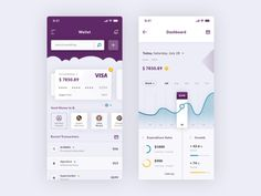 Wallet and Dashboard iOS App - PSD Freebie - FreebiesUI Wallet and Dashboard iOS App Design for PSD. It's fully customizable so you can change whatever you want - the colors, the shapes. Android App Design, Ios App Design, Mobile App Design, Design Web, Free Design, Dashboard Design Template, Blockchain, Profile App, Dashboard App