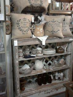 Old Store Display shelf w/my items